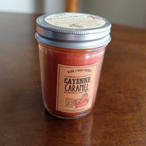 Bath & Body Works Cayenne Caramel Mason Jar Candle